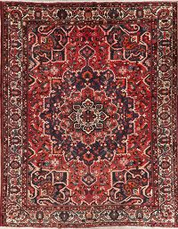 Vintage Red Bakhtiari Persian Wool Area Rug 10x13
