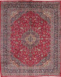 Vintage Floral Red Kashmar Persian Wool Area Rug 10x12