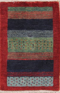 Multi-Color Tribal Gabbeh Shiraz Persian Wool Rug 2x3