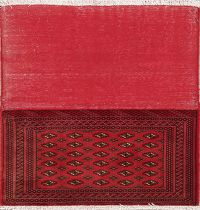 Red Bokhara Pakistan Oriental Wool Rug 2x3