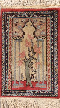 Transitional Kerman Turkish Oriental Wool Rug 1x2