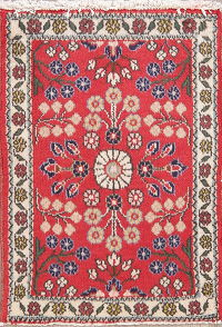 Floral Red Lilian Persian Wool Rug 2x3