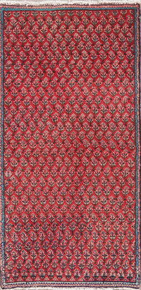 Vintage All-Over Red Botemir Persian Wool Rug 2x4