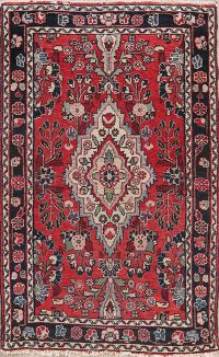 Vintage Floral Red Lilian Persian Wool Rug 3x4