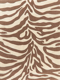 Animal Print Brown Modern Turkish Oriental Rug 8x11