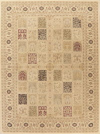 Patch-Work Design Bakhtiari Turkish Oriental Rug 8x11