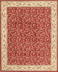 Transitional Floral Aubusson Turkish Oriental Rug 8x10