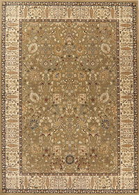 Floral Green Oushak Turkish Oriental Area Rug 8x11