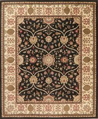 Black Floral Oushak Turkish Oriental Area Rug 8x10