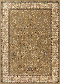 Green Floral Oushak Turkish Oriental Rug 8x11