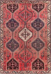 Antique Tribal Red Lori Persian Area Rug 7x10