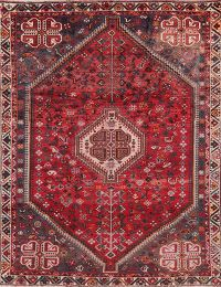 Vintage Tribal Red Shiraz Persian Area Rug 6x9