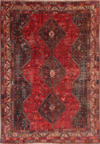 Antique Tribal Red Lori Shiraz Persian Area Rug 8x11