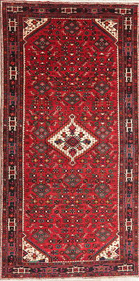 Tribal Geometric Hossainabad Persian Wool Area Rug 5x11