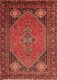 Antique Tribal Red Lori Persian Wool Area Rug 7x9