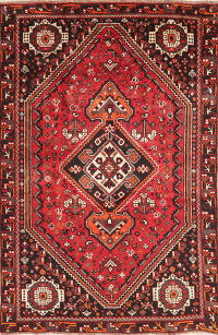 Vintage Tribal Red Lori Persian Wool Area Rug 5x9