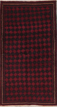 All-Over Balouch Afghan Oriental Wool Rug 3x6