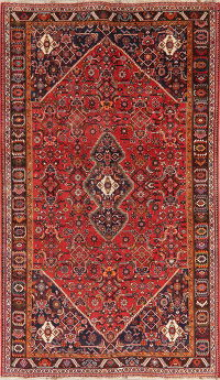 Vintage Red Tribal Kashkoli Persian Area Rug 6x10