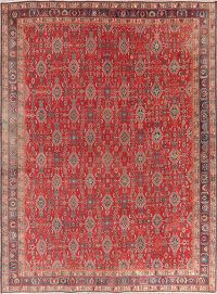 Antique Red Geometric Kashkoli Persian Wool Area Rug 8x11