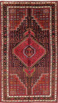 Black Tribal Zanjan Persian Wool Area Rug 5x8