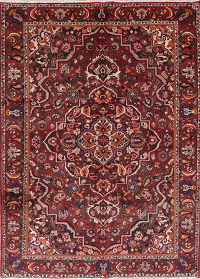 Floral Red Bakhtiari Persian Wool Area Rug 7x10
