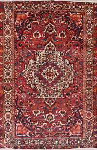 Floral Red Bokhara Persian Wool Area Rug 7x11