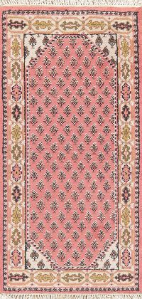 Pink Botemir Indian Oriental Wool Rug 2x4