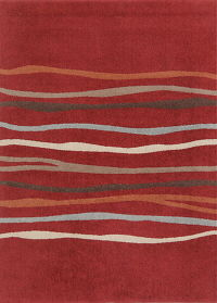 Red Modern Turkish Oriental Area Rug 7x9