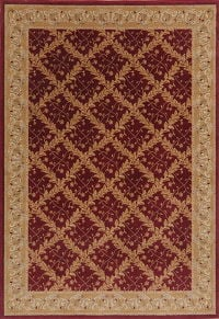 Floral Red Aubusson Turkish Oriental Area Rug 7x10