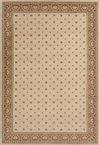 All Over Beige Modern Turkish Oriental Area Rug 7x10