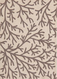 Nature Print Brown Modern Turkish Oriental Area Rug 5x7