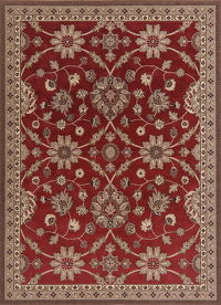Floral Red Oushak Turkish Oriental Area Rug 7x9