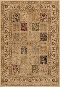 Patch-Work Brown Bakhtiari Turkish Oriental Rug 5x7