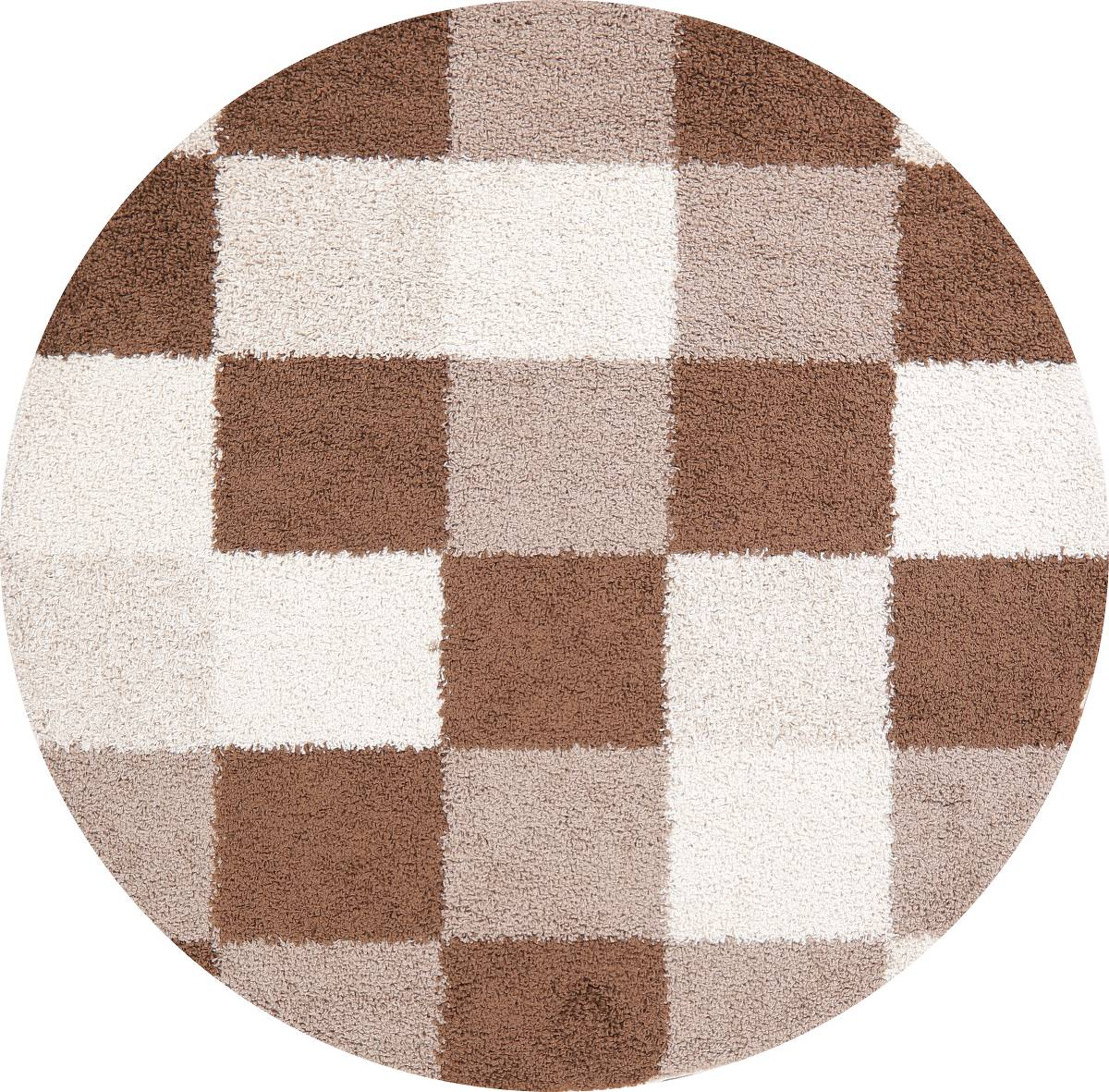 Checked Shaggy Turkish Oriental Rugs image 1