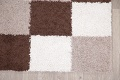 Checked Shaggy Turkish Oriental Rugs image 6