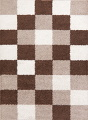 Checked Shaggy Turkish Oriental Rugs image 4