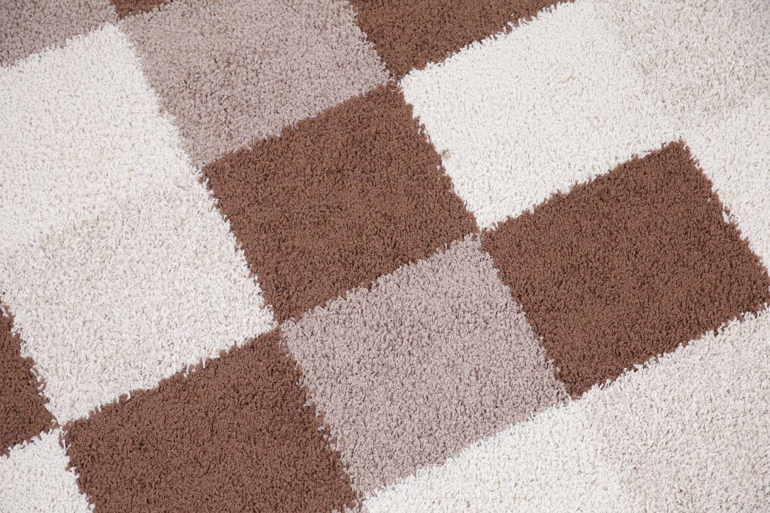 Checked Shaggy Turkish Oriental Rugs image 17