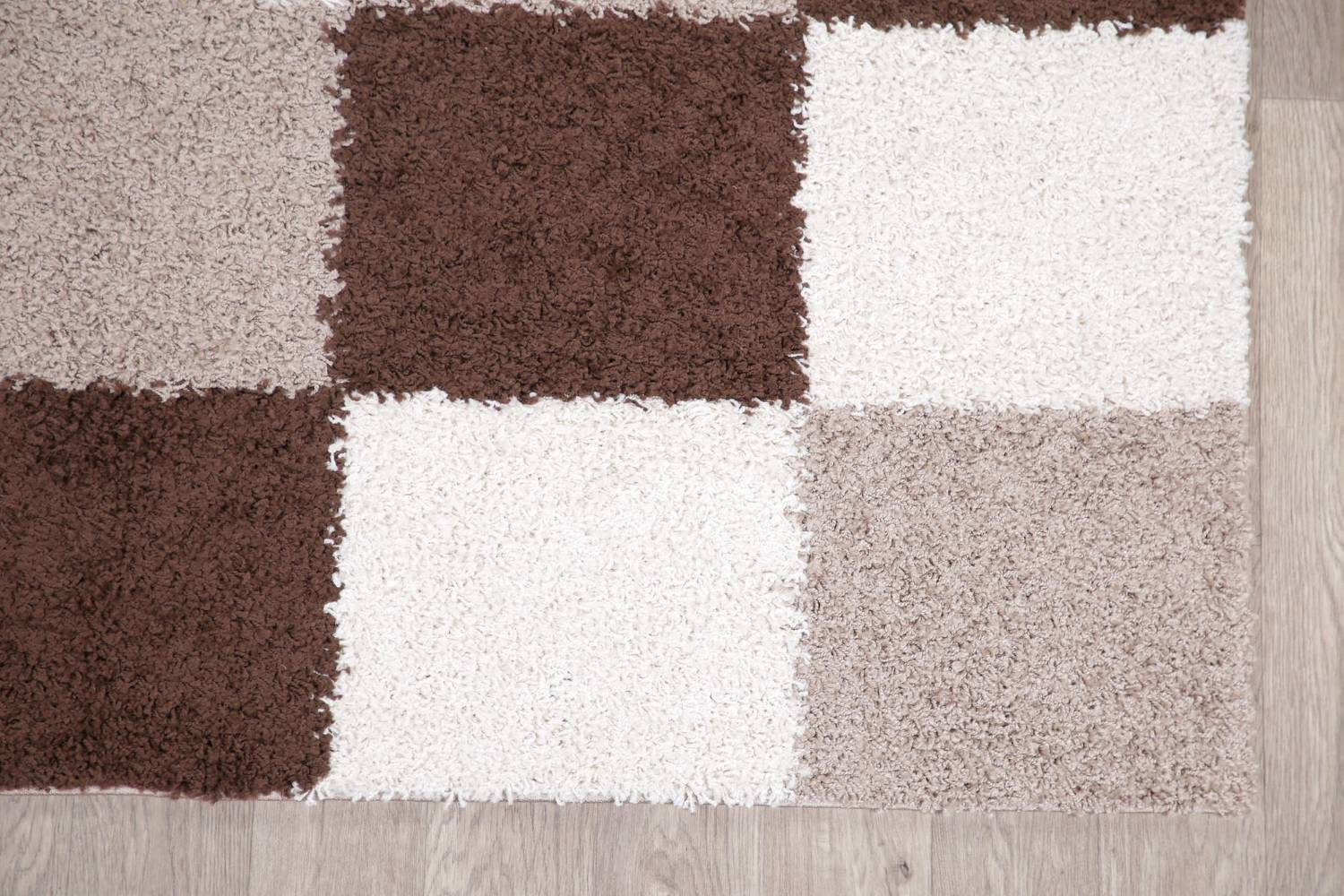 Checked Shaggy Turkish Oriental Rugs image 30