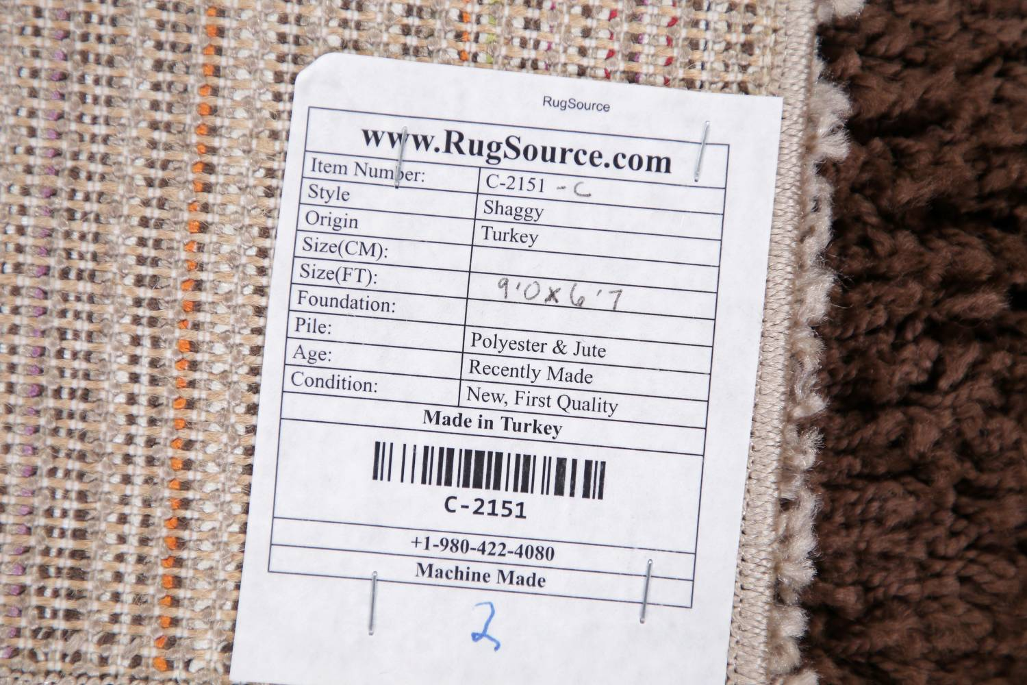 Checked Shaggy Turkish Oriental Rugs image 38