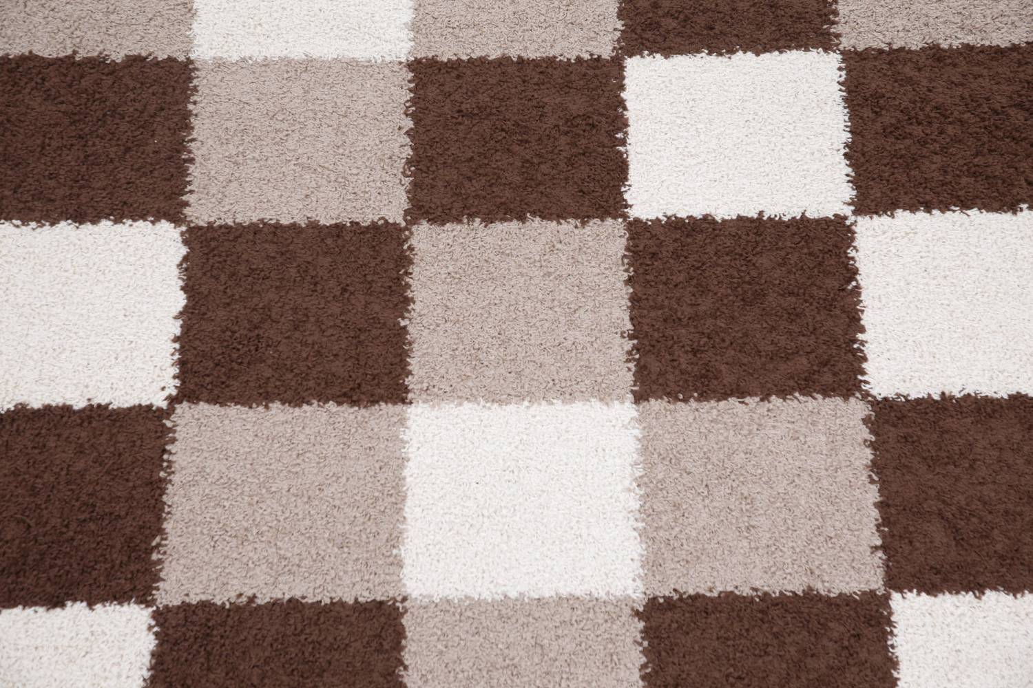 Checked Shaggy Turkish Oriental Rugs image 29