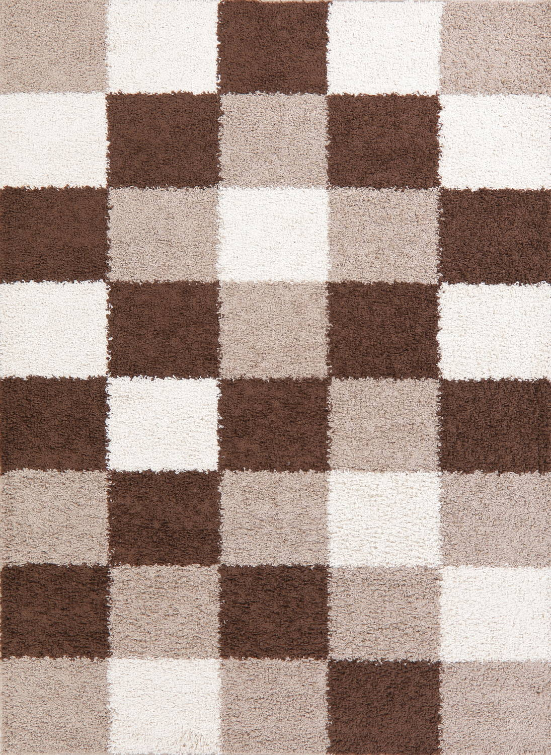 Checked Shaggy Turkish Oriental Rugs image 28