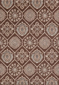Brown Modern Turkish Oriental Area Rug 5x7
