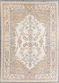 Ivory Oushak Turkish Oriental Area Rug 9x13