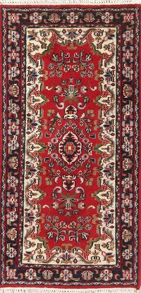 Floral Red Mahal Indian Oriental Wool Rug 2x5