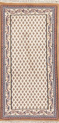 Ivory Geometric Botemir Indian Wool Rugs