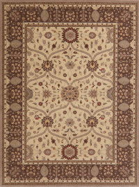 Floral Brown Oushak Turkish Oriental Area Rug 8x10