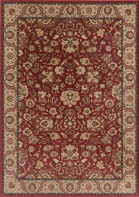 Floral Red Oushak Turkish Oriental Area Rug 8x11
