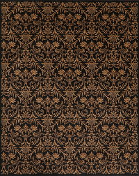 All-Over Black Modern Turkish Oriental Area Rug 8x10