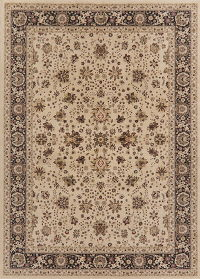 Brown Floral Oushak Turkish Oriental Area Rug 8x11