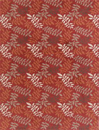 Red Nature Print Modern Turkish Oriental Area Rug 8x11